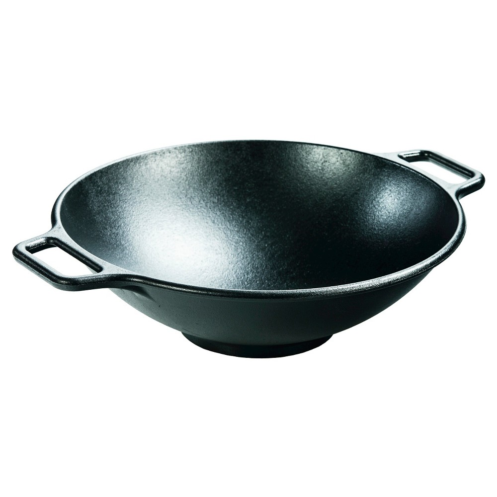 Lodge Cast Iron Wok Pan, Black