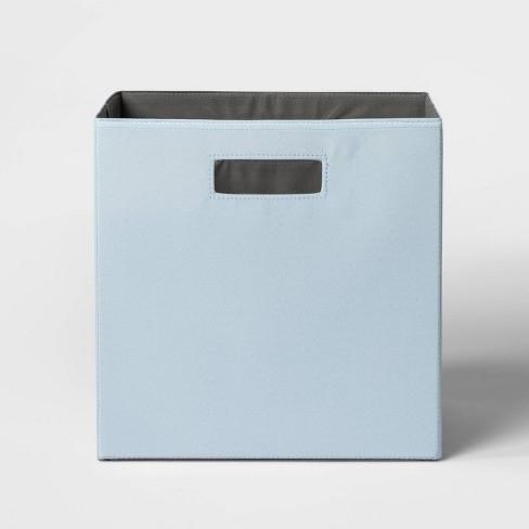 "13"" Fabric Cube Storage Bin Soft Blue - Threshold™ - image 1 of 3"