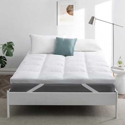 Peace Nest White Goose Feather Bed MattressTopper