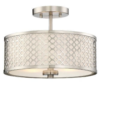 Brushed Nickel Semi Flush Mount Ceiling Lights - Aurora Lighting
