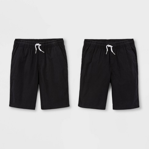 Boys' 2pk Pull-On Woven Shorts - Cat & Jack™ Black/Black - image 1 of 2