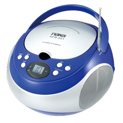 Naxa Portable CD Player with AM/FM Stereo Radio in Blue