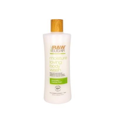 Raw Sugar Avocado and Cactus Pear Moisture Loving Body Wash - 25 fl oz