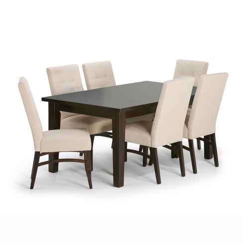 7pc Hawthorne Solid Hardwood Dining Set - Wyndenhall - image 1 of 9