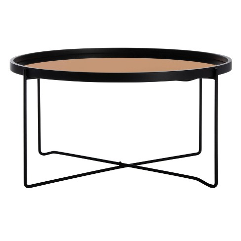 Ruby Round Tray Top Coffee Table Rose, Black Coffee Table Tray Round
