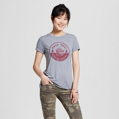 927e6bd62617 Women's Smokey Bear Graphic T-Shirt Gray (Juniors') : Target