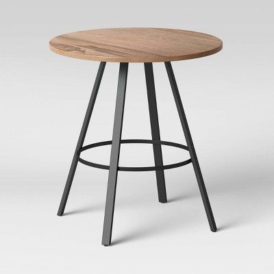 Duncan Round Wood End Table Brown - Threshold™