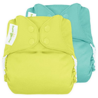 bumGenius Freetime All-In-One Snap Reusable Diaper (2pk)- Mirror/Jolly