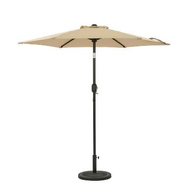 7.5' Bistro Market Patio Umbrella Champagne - Island Umbrella