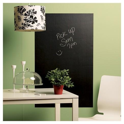 peel & stick chalkboard wall decals gray - wallies® : target