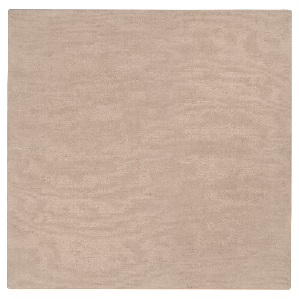 Taupe Brown Solid Loomed Square Area Rug - (8'X8') - Surya