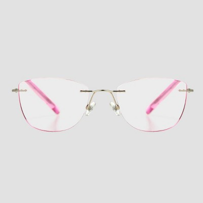 Women's Cateye Reading Glasses - A New Day™ Pink
