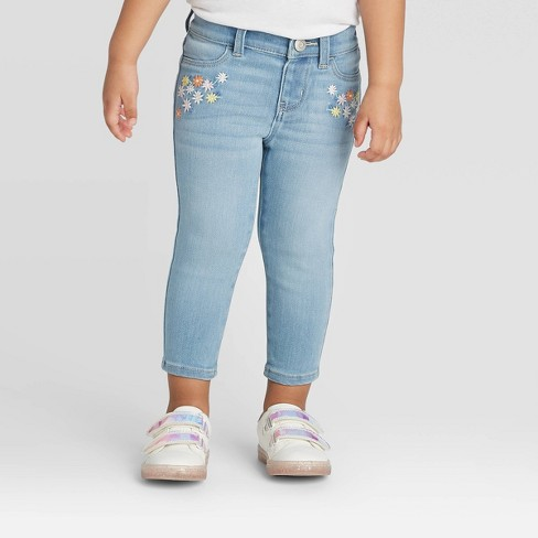 OshKosh B'gosh Toddler Girls' Floral Jeans - Blue - image 1 of 3
