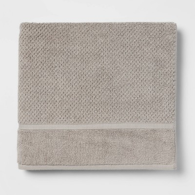Performance Bath Towel Gray Texture - Threshold™