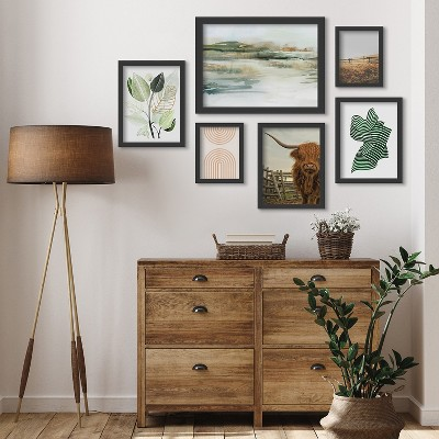 Americanflat Only for a Moment Coastal by PI Creative 6 Piece Framed Gallery Wall Art Set