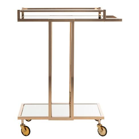 Capri 2 Tier Rectangle Bar Cart Gold - Safavieh - image 1 of 4