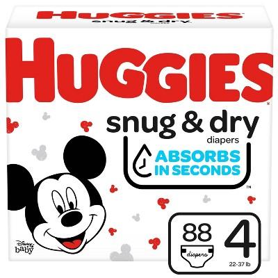 Huggies Snug & Dry Diapers Super Pack - Size 4 - 88ct