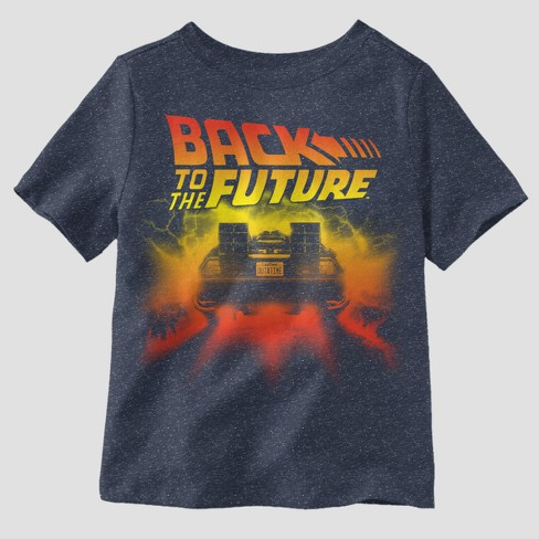 aeb66d5e591 Toddler Boys' Back To The Future Short Sleeve T-Shirt - Navy   Target