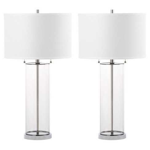 "(Set of 2) 31"" Velma Table Lamp Clear - Safavieh - image 1 of 3"