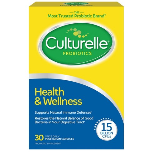 Culturelle Health & Wellness Daily Immune Support Vegetarian Dietary Supplement Capsules - 30ct - image 1 of 4
