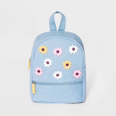 Girls' Denim Mini Backpack - Cat & Jack™ Blue