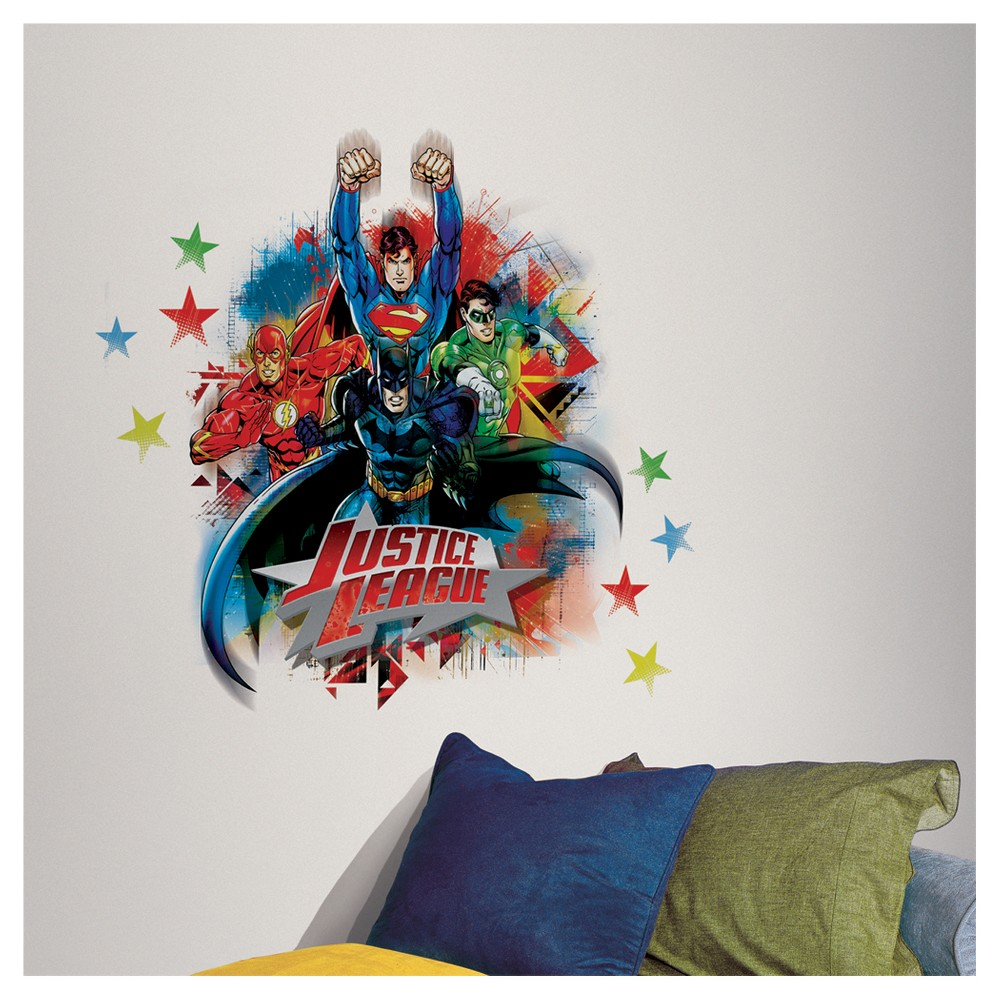 Image of RoomMates Justice League Peel & Stick Giant Wall Decals, Multi-Colored
