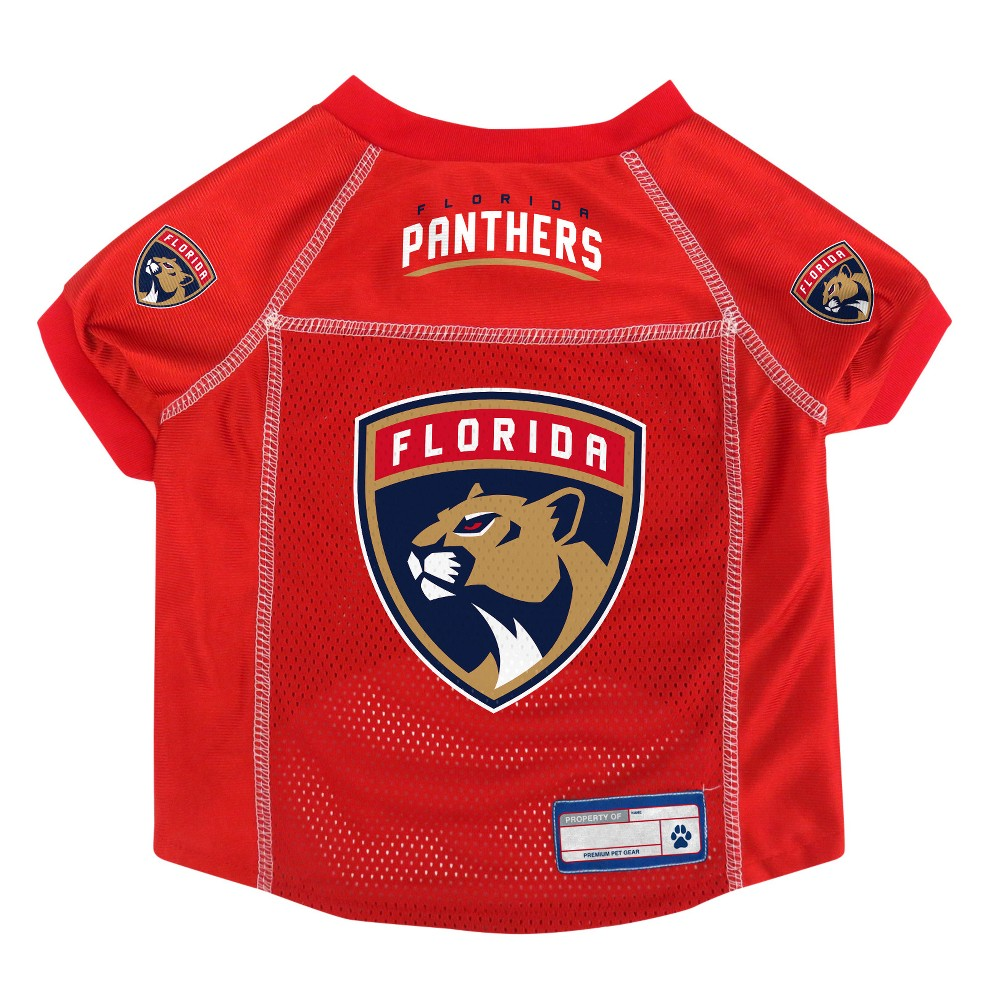 NHL Florida Panthers Pet Jersey - S, Multicolored