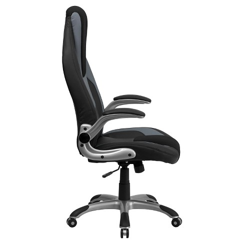 Executive Swivel Office Chair Black & Gray Vinyl - Flash Furniture on office tables, office counters, office lamps, office bookcases, office stools, office kitchen, office furniture, office beds, office lobby, office footrest, office reception, office desks, office accessories, office trash can, office employees, office sofa sets, office computers, office couch, office pens, office cubicles,