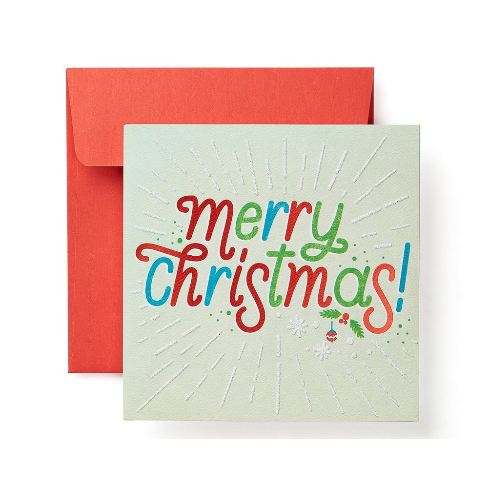 'Merry Christmas' Print Card, Multi-Colored
