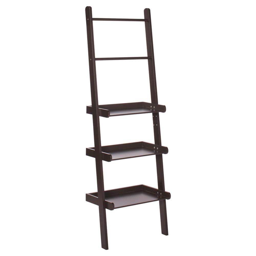 Ladder Shelf Espresso (Brown) - RiverRidge