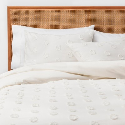 King Textured Duvet Cover Set Cream - Opalhouse™