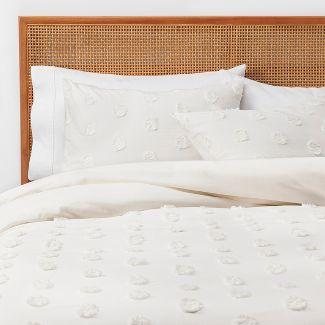 Full/Queen Textured Duvet Cover Set Cream - Opalhouse™