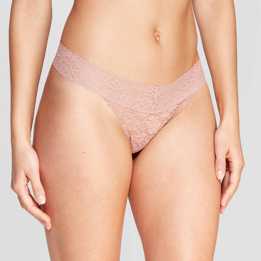 Women's All Over Lace Thong - Auden Mauve (Pink) XS