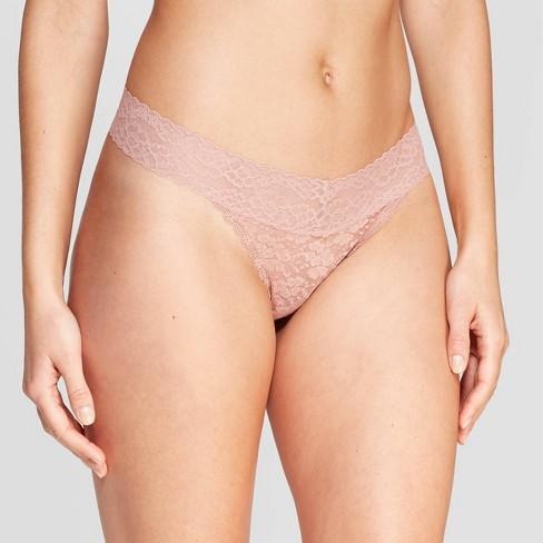 8a8b5617bb98 Women's All Over Lace Thong - Auden™ Mauve L : Target