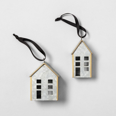 Metal House Ornaments Set of 2 - Hearth & Hand™ with Magnolia - image 1 of 5