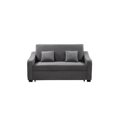 3 Seat Harlem Convertible Sofa Queen Gray   Serta