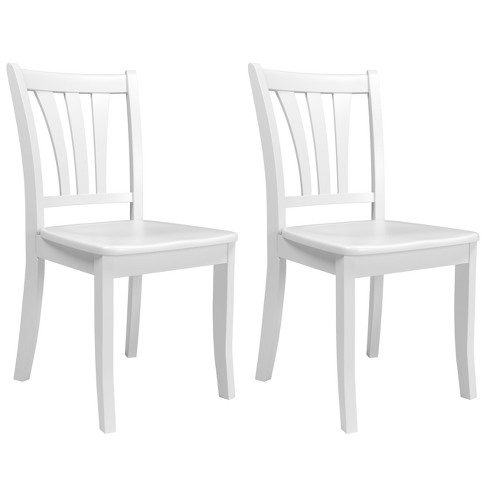 Pleasant Dillon Solid Wood Dining Chairs With Curved Vertical Slat Backrest Set Of 2 Corliving Inzonedesignstudio Interior Chair Design Inzonedesignstudiocom
