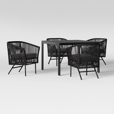 60c3da8e59f Standish 5pc Patio Dining Set - Charcoal - Project 62™   Target