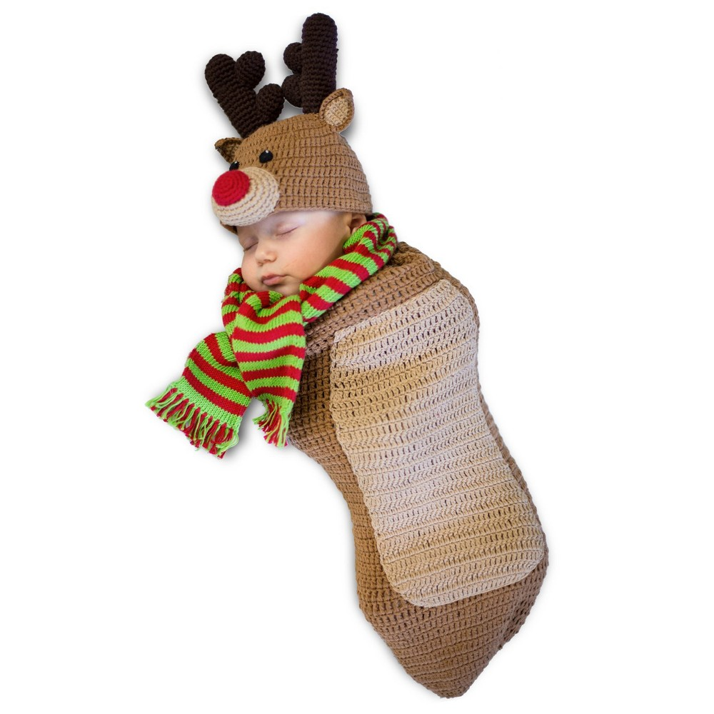 Image of Halloween Baby Randolph the Reindeer Costume - Princess Paradise, Adult Unisex, Size: Newborn, Brown