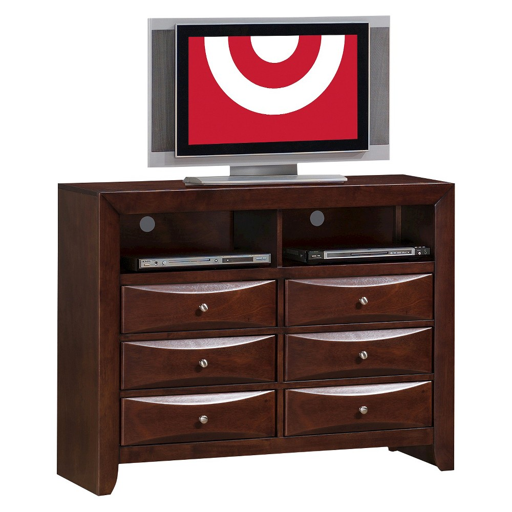Claire 6-Drawer Media Chest Rich Espresso - Picket House Furnishings