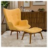 Hariata Fabric Contour Chair with Ottoman Set - Christopher Knight Home - image 2 of 4