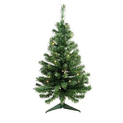 Northlight 3' Pre-Lit Green Medium Niagara Pine Artificial Christmas Tree - Clear Lights