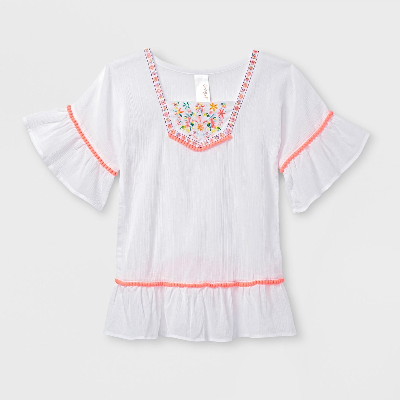 Toddler Girls' Kimono Sleeve Cover-Up - Cat & Jack™ White - image 1 of 1