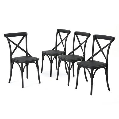Danish 4pk Plastic Nylon Dining Chairs - Christopher Knight Home