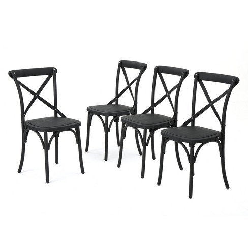 Danish 4pk Plastic Nylon Dining Chairs - Christopher Knight Home - image 1 of 4