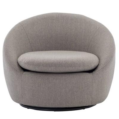 Modern Cozy Swivel Chair Gray - WOVENBYRD