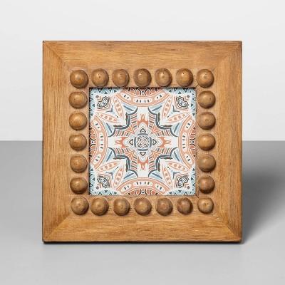 "4"" x 4"" Beaded Frame Wood - Opalhouse™"