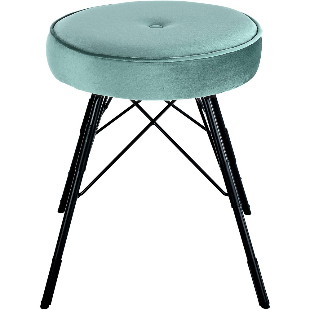 Image of 2pc Avery Stool Set Blue - Adore Décor