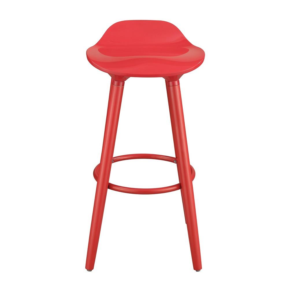 Image of Caroline Bar Stool Red - Adore Decor