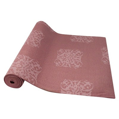Empower™ Printed Yoga/Pilates Mat with Clutch - Cranberry Print (5mm)